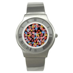 Butterflies Stainless Steel Watch