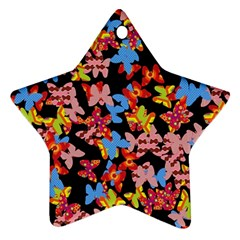 Butterflies Star Ornament (Two Sides)