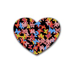 Butterflies Rubber Coaster (Heart)