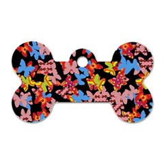 Butterflies Dog Tag Bone (Two Sides)