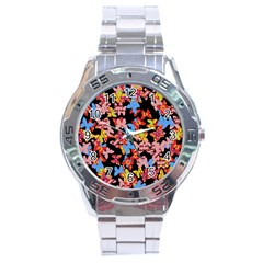 Butterflies Stainless Steel Analogue Watch