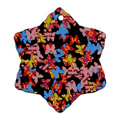 Butterflies Snowflake Ornament (Two Sides)