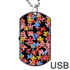 Butterflies Dog Tag USB Flash (Two Sides)