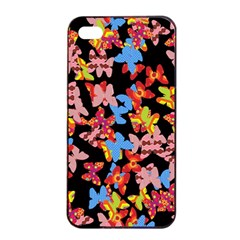 Butterflies Apple iPhone 4/4s Seamless Case (Black)