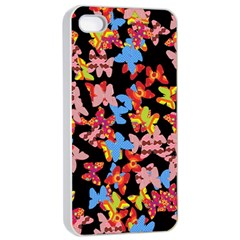 Butterflies Apple iPhone 4/4s Seamless Case (White)