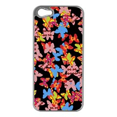 Butterflies Apple iPhone 5 Case (Silver)