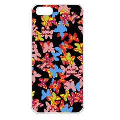 Butterflies Apple iPhone 5 Seamless Case (White)