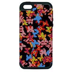 Butterflies Apple iPhone 5 Hardshell Case (PC+Silicone)