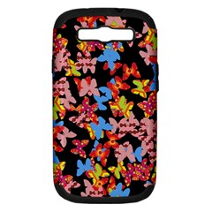 Butterflies Samsung Galaxy S III Hardshell Case (PC+Silicone)