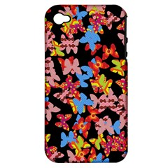 Butterflies Apple iPhone 4/4S Hardshell Case (PC+Silicone)