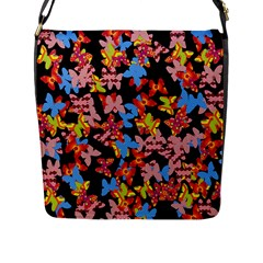 Butterflies Flap Messenger Bag (L)