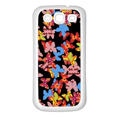 Butterflies Samsung Galaxy S3 Back Case (White)