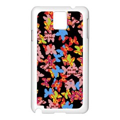 Butterflies Samsung Galaxy Note 3 N9005 Case (White)