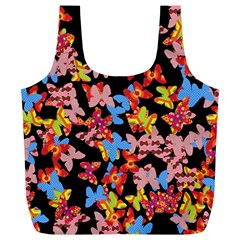 Butterflies Full Print Recycle Bags (L)