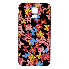 Butterflies Samsung Galaxy S5 Back Case (White)