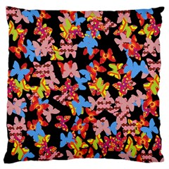 Butterflies Large Flano Cushion Case (One Side)