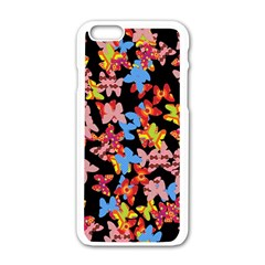 Butterflies Apple iPhone 6/6S White Enamel Case