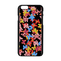 Butterflies Apple iPhone 6/6S Black Enamel Case