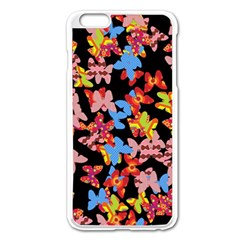 Butterflies Apple iPhone 6 Plus/6S Plus Enamel White Case