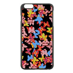 Butterflies Apple iPhone 6 Plus/6S Plus Black Enamel Case
