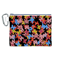 Butterflies Canvas Cosmetic Bag (L)