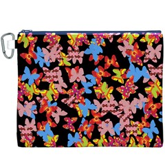 Butterflies Canvas Cosmetic Bag (XXXL)