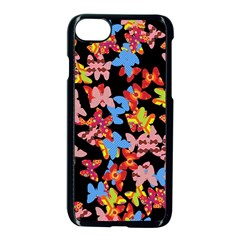 Butterflies Apple iPhone 7 Seamless Case (Black)