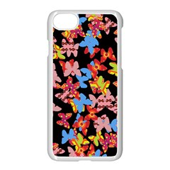 Butterflies Apple iPhone 7 Seamless Case (White)