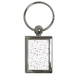 Cute Flamingos And  Leaves Pattern Key Chains (Rectangle)