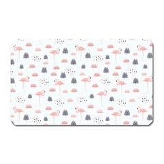Cute Flamingos And  Leaves Pattern Magnet (Rectangular)