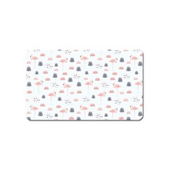 Cute Flamingos And  Leaves Pattern Magnet (Name Card)