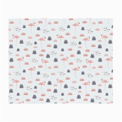 Cute Flamingos And  Leaves Pattern Small Glasses Cloth (2-Side)