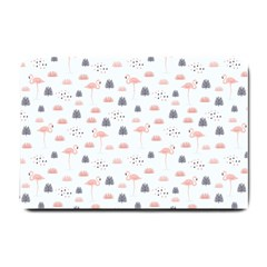 Cute Flamingos And  Leaves Pattern Small Doormat