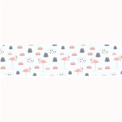 Cute Flamingos And  Leaves Pattern Large Bar Mats