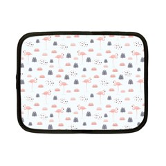 Cute Flamingos And  Leaves Pattern Netbook Case (Small)