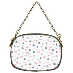 Cute Flamingos And  Leaves Pattern Chain Purses (One Side)