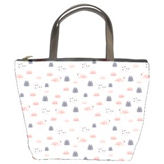 Cute Flamingos And  Leaves Pattern Bucket Bags