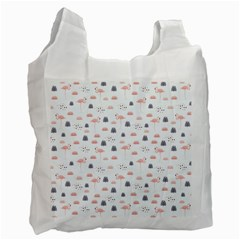 Cute Flamingos And  Leaves Pattern Recycle Bag (Two Side)