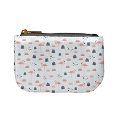 Cute Flamingos And  Leaves Pattern Mini Coin Purses