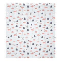 Cute Flamingos And  Leaves Pattern Shower Curtain 66  x 72  (Large)