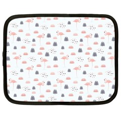 Cute Flamingos And  Leaves Pattern Netbook Case (XXL)