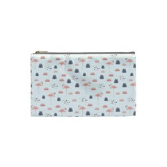 Cute Flamingos And  Leaves Pattern Cosmetic Bag (Small)