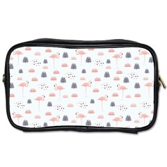 Cute Flamingos And  Leaves Pattern Toiletries Bags