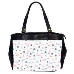 Cute Flamingos And  Leaves Pattern Office Handbags (2 Sides)