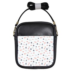 Cute Flamingos And  Leaves Pattern Girls Sling Bags