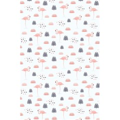 Cute Flamingos And  Leaves Pattern 5.5  x 8.5  Notebooks