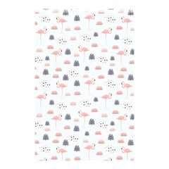Cute Flamingos And  Leaves Pattern Shower Curtain 48  x 72  (Small)