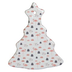 Cute Flamingos And  Leaves Pattern Ornament (Christmas Tree)