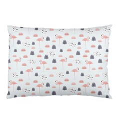 Cute Flamingos And  Leaves Pattern Pillow Case (Two Sides)