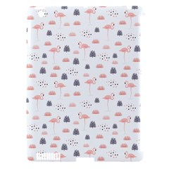 Cute Flamingos And  Leaves Pattern Apple iPad 3/4 Hardshell Case (Compatible with Smart Cover)